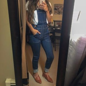 Madewell denim skinny overalls